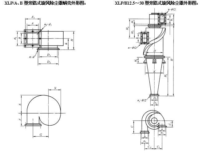 XLP/A型旋風除塵器
